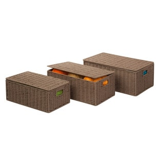 3pc Set Paper Cord Baskets