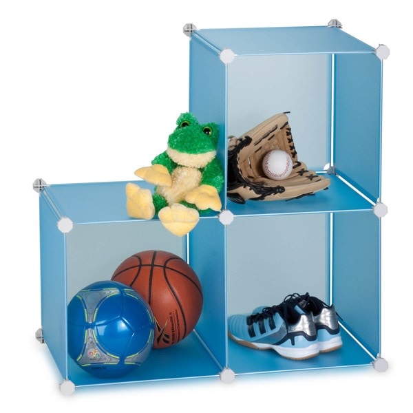 Storage Cubes- set of 3- blue