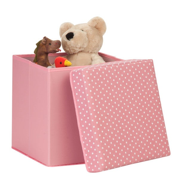 padded storage cube, pink