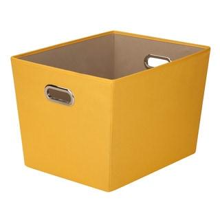 Lg Storage Bin w/ handle -Ylw