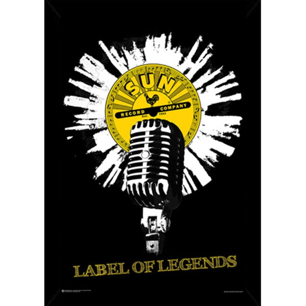 Sun Records Mic Poster (24-inch x 36-inch) with Contemporary Poster Frame