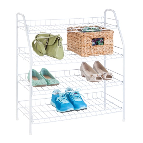 4-Tier storage rack, white