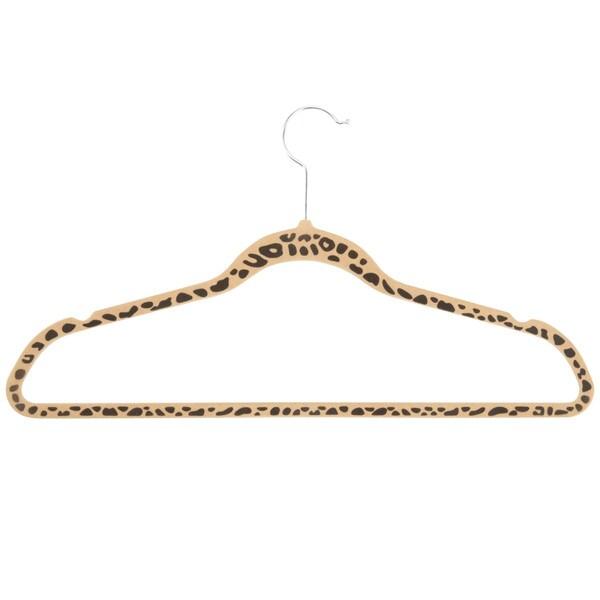 20pk velvet hangers, cheetah