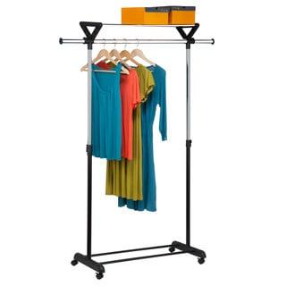 Honey-Can-Do GAR-02123 Garment Rack with Shelf