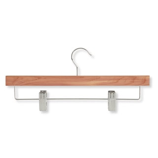 Honey-Can-Do HNG-01535 Cedar Skirt/Pants Hangers with Clips (4-pack)