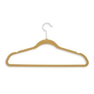 Flocked Suit Hanger- 50pk tan