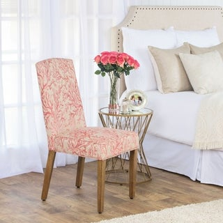 HomePop Soft Pink Coral Parson Chair
