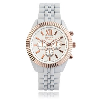 Geneva Platinum Metallic Link Watch