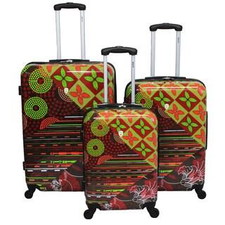 Dejuno Sonoma 3-piece Hardside Lightweight Expandable Upright Spinner Luggage Set