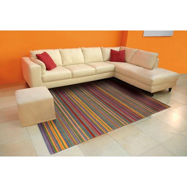 Nourison Skyland Stripe Rug (3'6 x 5'6) 16165169