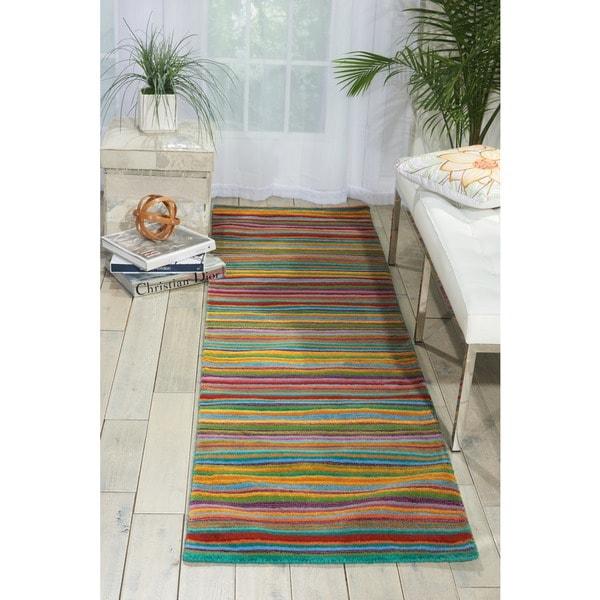 Nourison Skyland Stripe Runner Rug (2'3 x 8') 16165205