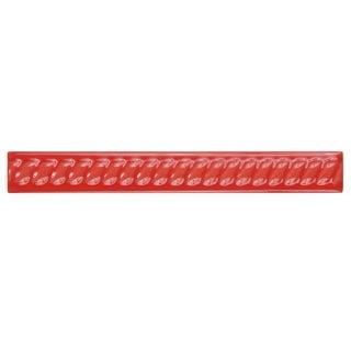 SomerTile 1x8-inch Trenzas Roja Moldura Ceramic Rope Pencil Trim Wall Tile (Pack of 12)