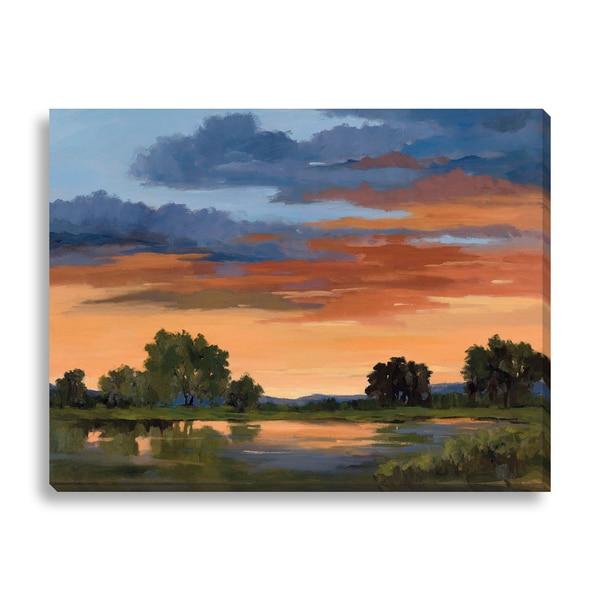 Karen Wilkerson 'Autumn Skies II' Canvas Gallery Wrap