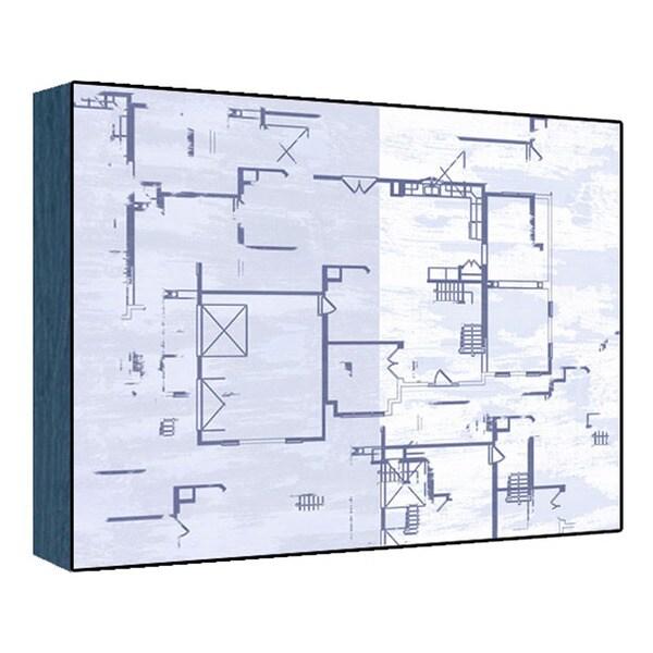 Blue plan II Wood Art