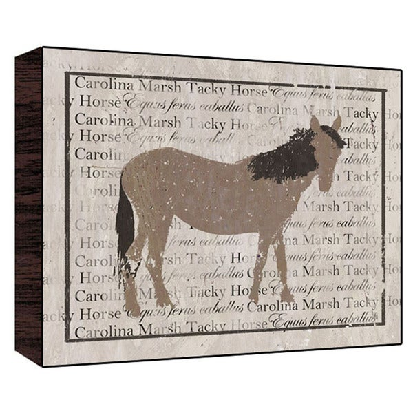 Carolina Marsh Horse Wood Art