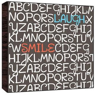 Laugh, Smile Wood Art