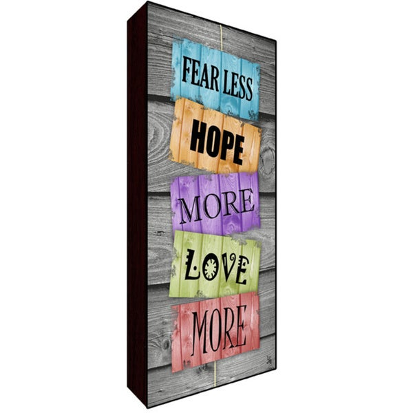 10x20 Fear Less Wood Art