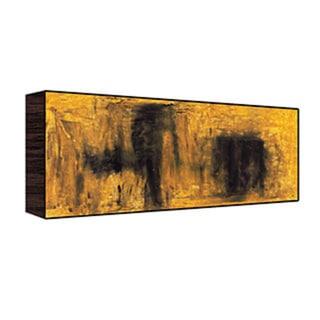 40x20 Yellow Abstract Wood Art