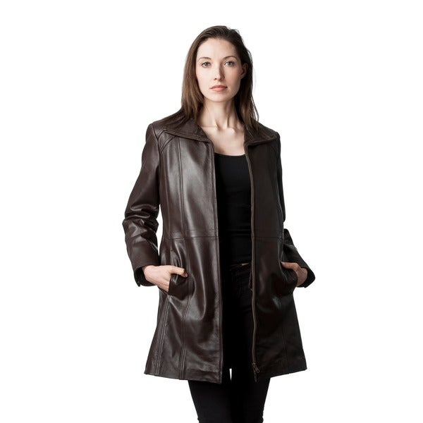 Mason & Cooper Marilyn Leather Walking Coat 16902142