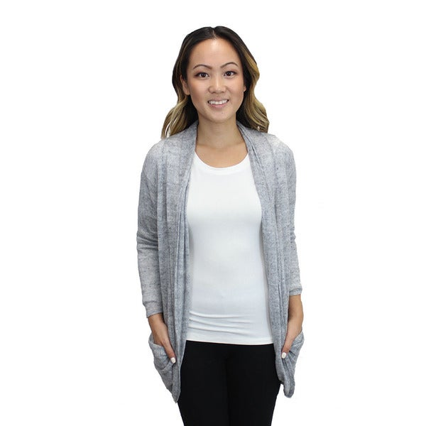 Relished Women's Grey Candace Pocket Cardigan