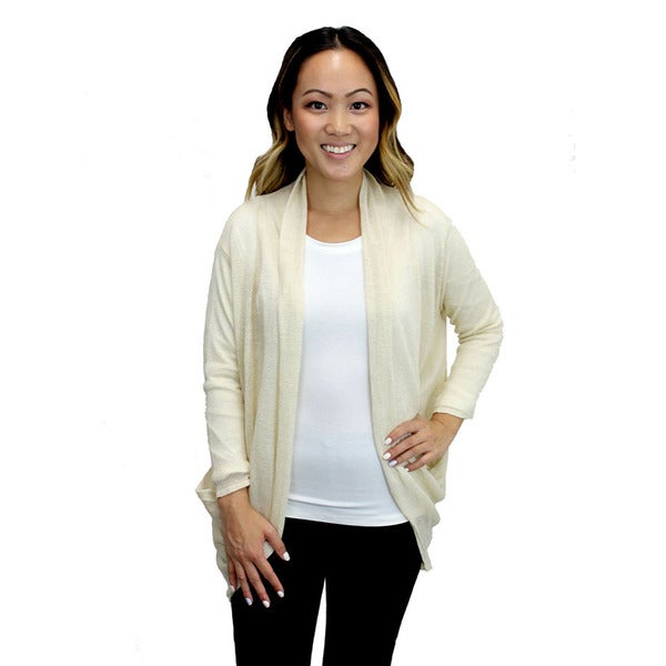 Relished Women's Cream Candace Pocket Cardigan