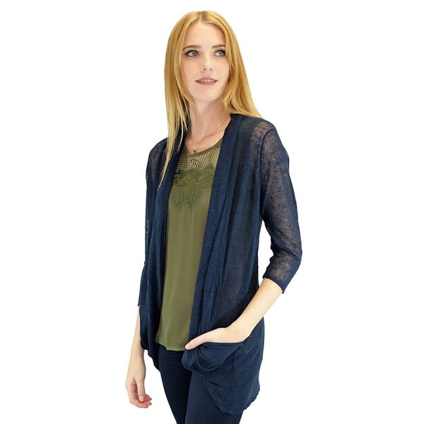 Relished Women's Navy Candace Pocket Cardigan