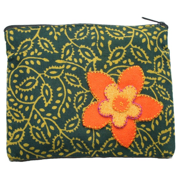 Green Booti Coin Pouch