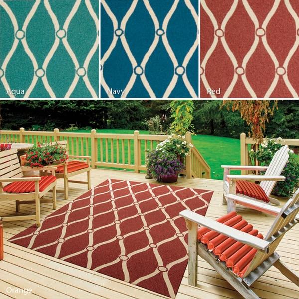 Rug Squared Maui Indoor Outdoor Geometric Rug (3'6 x 5'6)