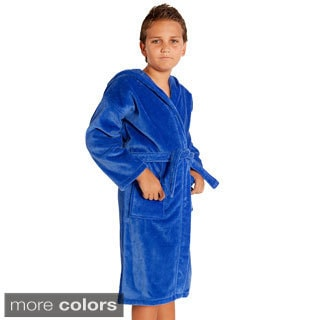 100-percent Turkish Cotton Kid's Hooded Terry Bathrobe