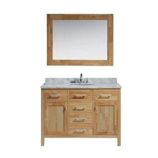 Design Element London 48-inch Single Sink Vanity Set in Honey Oak Finish
