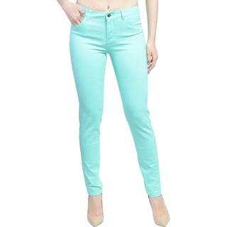 Women's Brushed Stretch Twill Mid Rise Skinny Jeans