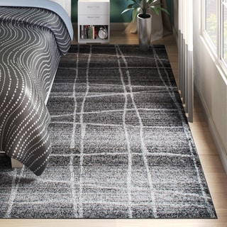 nuLOOM Contemporary Trellis Dark Grey Rug (7'6 x 9'6)