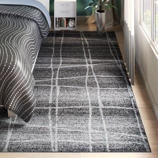 nuLOOM Contemporary Trellis Dark Grey Rug (7'6 x 9'6)
