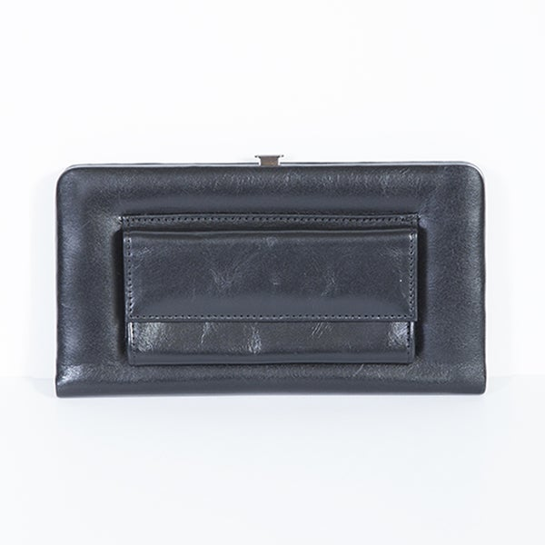 Scully Black Leather Opera Clutch