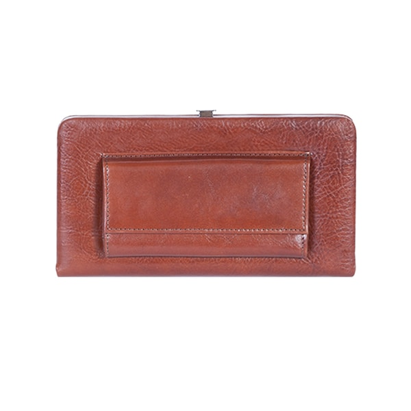 Scully Brown Leather Opera Clutch