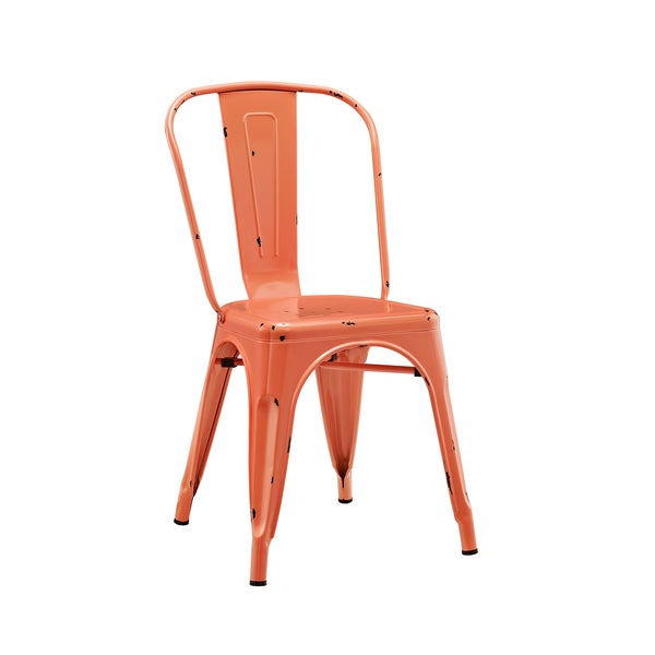 Metal Caf Chair - Clementine Orange