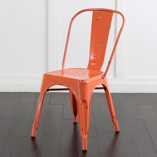 Metal Cafe Chair - Clementine Orange