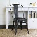 Metal Cafe Chair - Antique Black