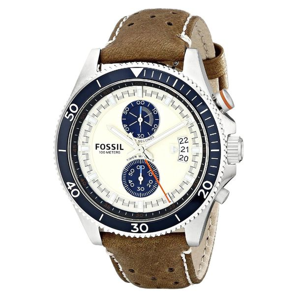 Fossil Men's CH2951 'Wakefield' Timer Brown Leather Watch