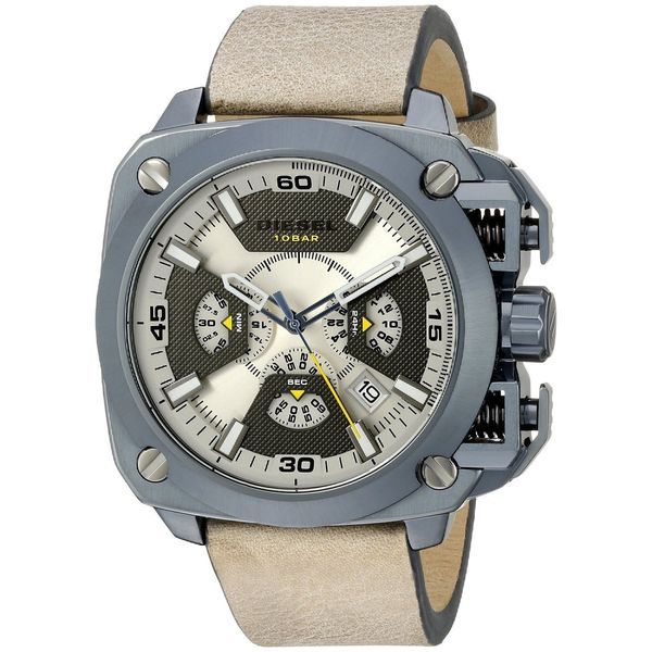 Diesel Men's DZ7342 'BAMF' Chronograph Brown Leather Watch