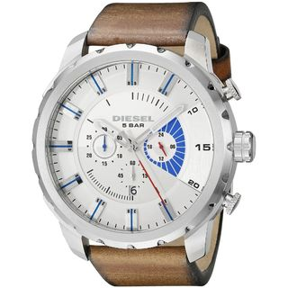 Diesel Men's DZ4357 'Stronghold' Chronograph Brown Leather Watch