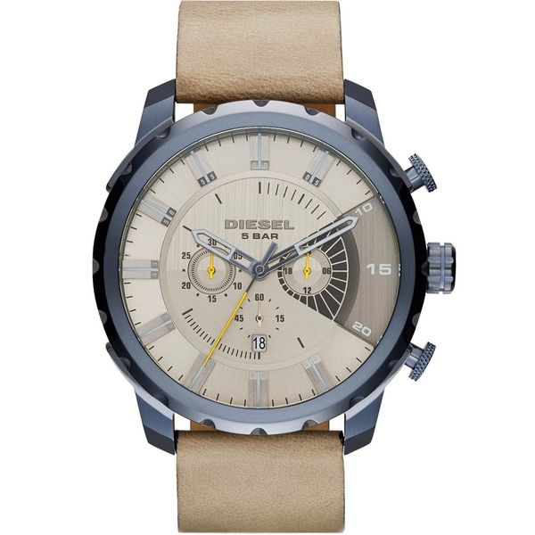 Diesel Men's DZ4354 'Stronghold' Chronograph Grey Leather Watch