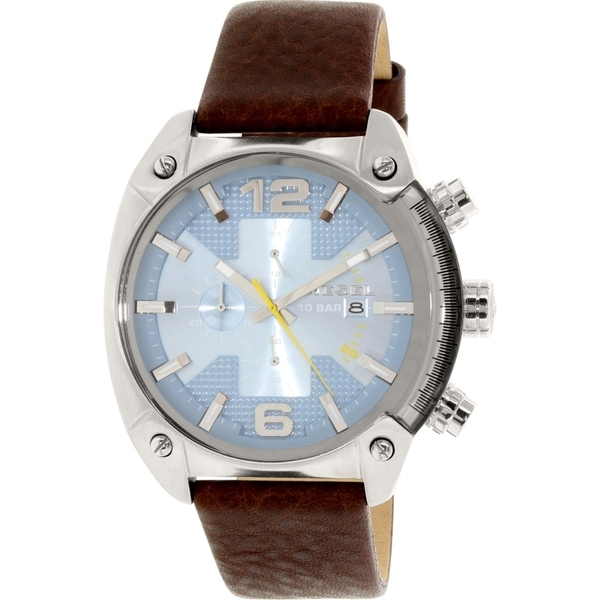 Diesel Men's DZ4340 'Overflow' Chronograph Brown Leather Watch