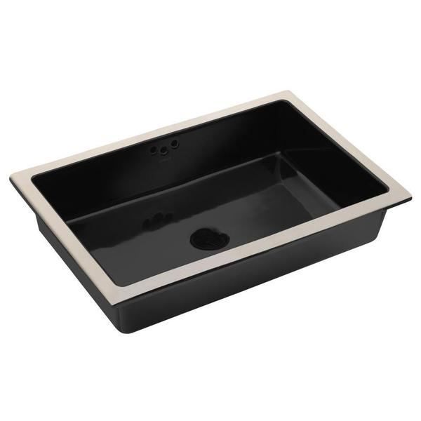 KOHLER Kathryn Undermount Bathroom Sink with Glazed Underside in Black