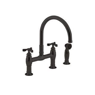 Kohler Parq 2-Handle Side Sprayer Kitchen Faucet in Oil-Rubbed Bronze - 1.8 GPM