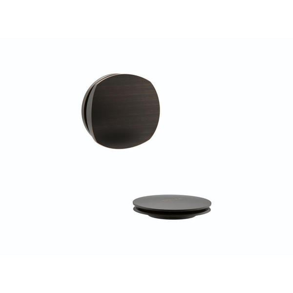 Kohler PureFlo Cable Bath Drain Trim with Basic Rotary Turn Handle in Oil Rubbed Bronze