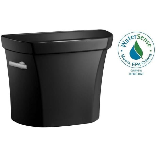 Kohler Wellworth 1.6 GPF Toilet Tank Only in Black Black