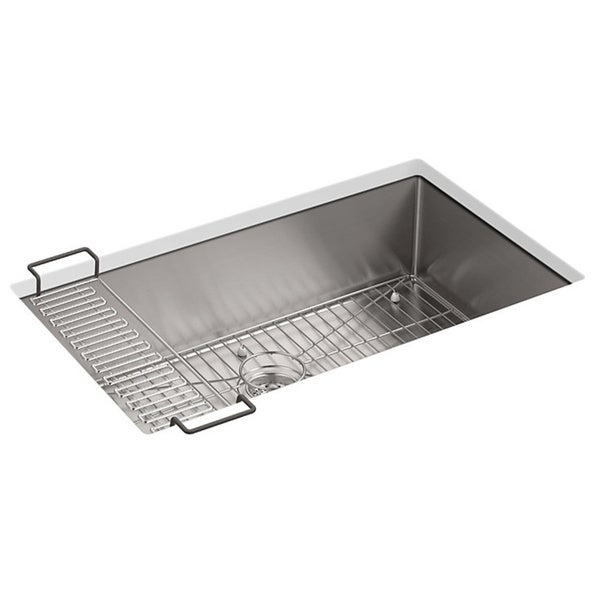 Kohler Strive Undermount Stainless Steel 18-1/4x32x9-5/16 0-Hole Single Bowl Kitchen Sink