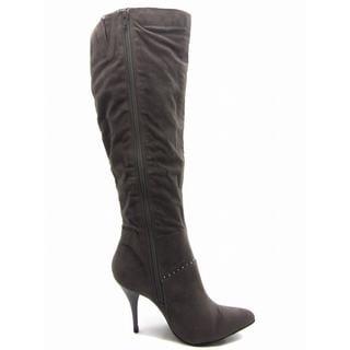 Jade Women's 'Luxury' Zipped Knee Height Booties