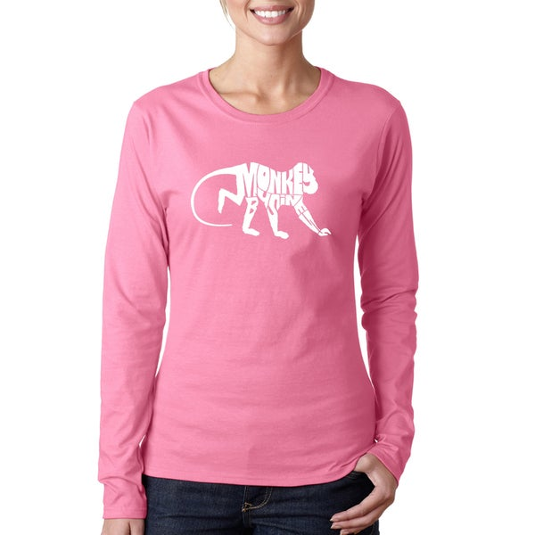 LA Pop Art Women's Monkey Business Long Sleeve T-Shirt